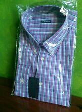 camicia uomo MARCUS in tela di cotone a quadretti taglia 17 1/2 collo 44
