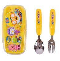 PORORO Tableware Spoon Fork Case Set For Baby Kids Korea