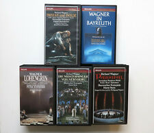 5x Video VHS Wagner Bayreuth