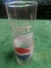 Old 1970s Tall Slender DIET PEPSI One Calorie logo Glass free shipping