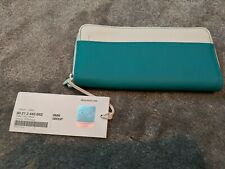 New Genuine MINI COOPER Lifestyle Colection Wallet Aqua / White 80212445662 OEM