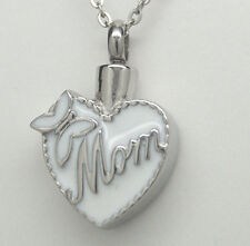 Mom Cremation Urn Necklace Heart Cremation Jewelry Mother Urn Memorial Keepsake