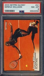 2003 Netpro Glossy #G1 Serena Williams PSA 8 MINT /5000 NEW PSA GRADE