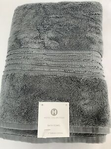 "New Hotel Collection Turkish Cotton Large Bath Towel Atomic Gray 30"" x 56"""