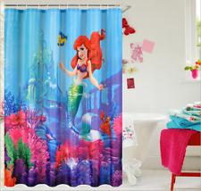 Shower Curtain Fairy Little Mermaid Bathroom Waterproof Fabric 72 inch 12 Hooks