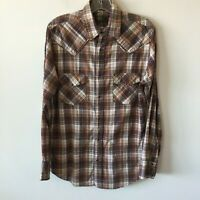 ELY Cattleman 1878 Plaid Western Shirt Pearl Snap Long Sleeve Men's Small S