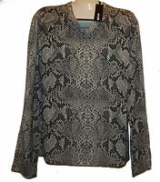 Just Cavalli Gray Snake Design Wool Men's V-Neck Italy Shirt Sweater Size 3XL