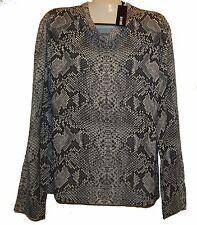Just Cavalli Gray Snake Design Wool Men's V-Neck Italy Shirt Sweater Size 3XL