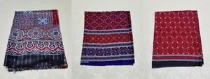 SINDHI Ajrak Traditional Pakistani cotton Shawl scarve wrap men and women