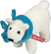Primitive Country Folk-Art Felted Wool Baby Rufus Polar Bear