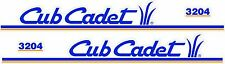 CUB CADET 3204 HOOD DECAL SET