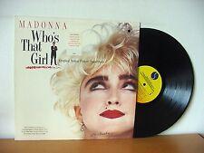 """MADONNA """"Who's That Girl"""" original PROMO LP 1987 (SIRE 1-25611) Scritti Politti"""