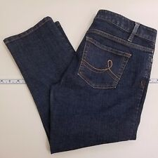 Ann Taylor LOFT Cropped Jeans Women's Size 6 Blue Denim Dark Wash