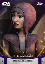 Women of Star Wars (2020) PURPLE PARALLEL BASE Card #89 - TECKLA MINNAU 22/25