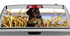 Truck Rear Window Decal Graphic [Dogs / Lab And Teal] 20x65in DC69205