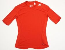 ADIDAS MEN LARGE TECHFIT BASE COMPRESSION CLIMALITE TSHIRT TEE TOP RED GYM WORK