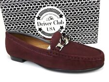 Driver Club USA Womens Colorado Springs Leather Loafers Size 5.0 M, Wine Nobuck
