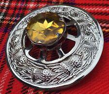 Kilt Mouche Plaid Broche Jaune Pierre/écossais Broche/Broches/pins