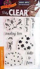 Color Layering Flower Bouquet Clear Acrylic Stamp Set by Hero Arts CL943 NEW!