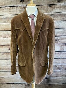 Polo Ralph Lauren Western Corduroy Jacket Size XL Brown Cotton Heavy Weight