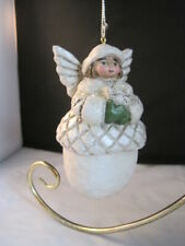 P Schifferl White Angel Acorn Ornament