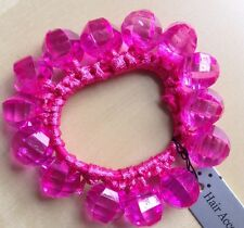 A Pretty Pink Beaded Hair Scrunchie/Bobble
