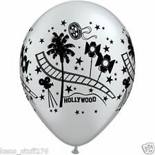 "Hollywood Stars Latex Balloons, Red Carpet Birthday, Party Decor, 11"" Qualatex"