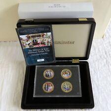 2012 William & Kate Chapado en Oro P/L fotográfico Conjunto de 4 monedas cocinar ISL en Caja/cert. de autenticidad
