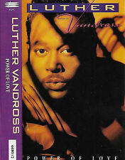 LUTHER VANDROSS POWER OF LOVE CASSETTE ALBUM Soul Contemporary Rhythm & Blues