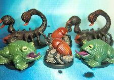 Dungeons & Dragons Miniatures Lot  Giant Frog Giant Scorpion Beetle !!  s114