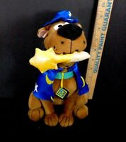 Scooby Doo Wizard Magician Wand Hat Star Moon Plush Stuffed Animal Blue cape