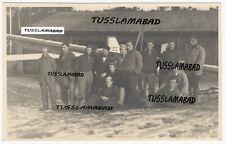 Trebbin 1930 Brandenburg Segelflugzeug auf dem Westhang Piloten Haus Foto TOP