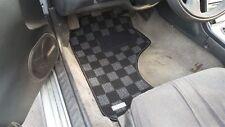P2M Checkered Flag Race Carpet Floor Mats Silvia 240sx S13 LHD Dark Grey New
