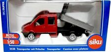 SIKU 1:50 DIE CAST FURGONE CON CASSONE  TRANSPORTER WITH PLATFORM  ART 3538