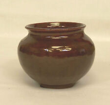 """Vintage Anton Lang Art Pottery BURGUNDY Small 3"""" VASE Made in Germany MINT"""