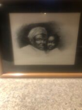 African American print by Kimble mother and child