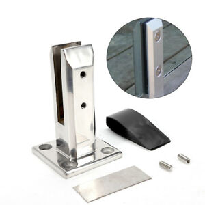 Stainless Steel Spigot Glass Pool Deck Fence Square Spigots  Fence Clamp Spigot