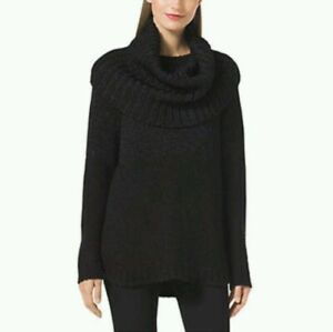 $100 MICHAEL BY MICHAEL KORS CHUNKY KNIT COWL NECK SWEATER - SIZE XL