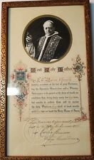 MOST HOLY FATHER,  VINTAGE, FRAMED PRINT OF POPE, 1928, COLLECTOR, POPE PIUS XI