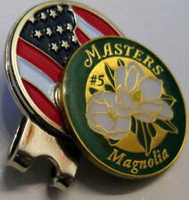 2018 Augusta MASTERS Honoring HOLE #5, MAGNOLIA, BALL MARKER & USA HAT CLIP
