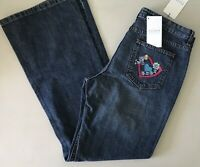 ESCADA SPORT NWT $195 Women's Kate Denim Jeans Embroidered Heart Pocket 42