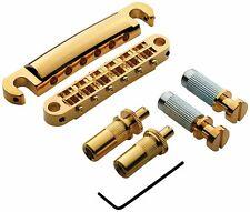 Lpm02-G TonePros Metric Thread Locking Bridge/Tailpiece Set Gold Finish