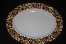 "EUC! Royal Doulton Everyday Cinnabar Large 13 1/4"" Oval Serving Platter. Pretty!"