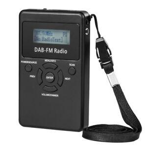 Portable DAB+ / FM RDS Radio Pocket Digital DAB Radio Receiver with Earphone