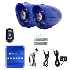 UTV,ATV, Anti-Theft LED Speakers USB Audio System Stereo Waterproof Bluetooth