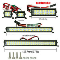 For D90 SCX10 TRX4 1/10 RC Climbing Car Spotlight Dual-Row Roof Lamp Light Kits
