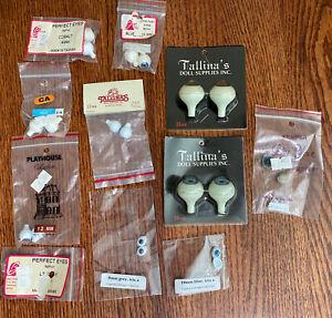 Tallinas Doll Eyes, Bell Ceramics Eyes, Kemper Doll Eyes Lot