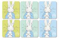 Beatrix Potter Peter Rabbit Contemporary Design Set of 6 Coasters NEW 23918