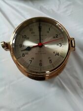 New listing Ship's Clock Bell Clock Co Quartz Brass