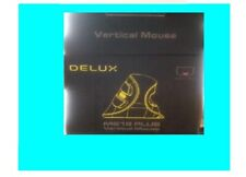 Delux® M618 Ergonomic Office Vertical Mouse 6 Buttons 600/1000/1600 DPI Optical